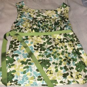 Loft Green sleeveless blouse